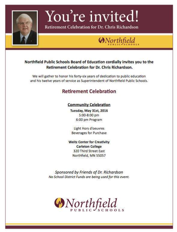 Invitation to Retirement Party